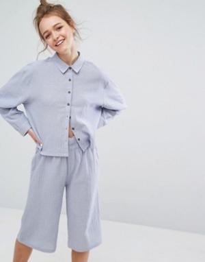 Lazy Days Пижамная рубашка. Цвет: синий