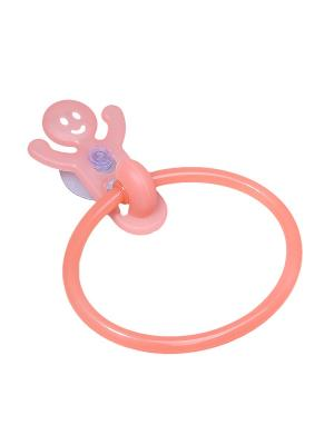 Крючок-кольцо для полотенец на присоске Migura. Цвет: коралловый