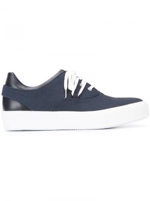 Кроссовки на шнуровке Oamc. Цвет: синий