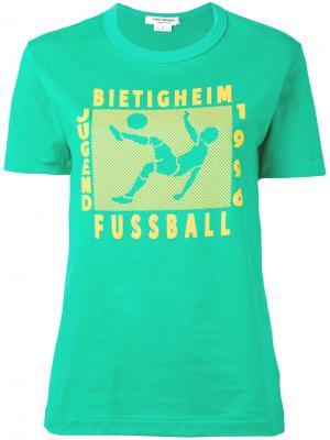 Футболка с принтом Junya Watanabe Comme Des Garçons. Цвет: зелёный
