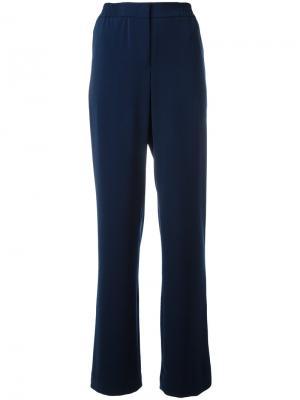 Широкие брюки с завышенной талией Akris. Цвет: синий