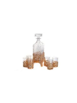 Набор для виски, 7 предметов Elff Ceramics. Цвет: золотистый