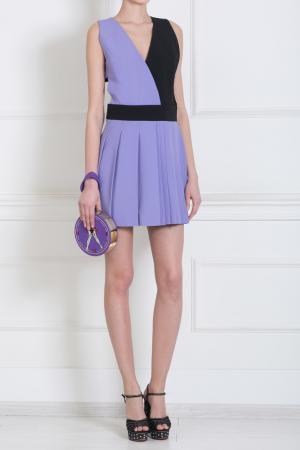 Платье-мини Fausto Puglisi. Цвет: пурпурный, черный, фиолетовый