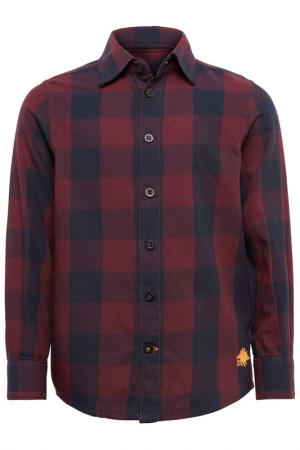 Рубашка Tom Tailor. Цвет: бордовый