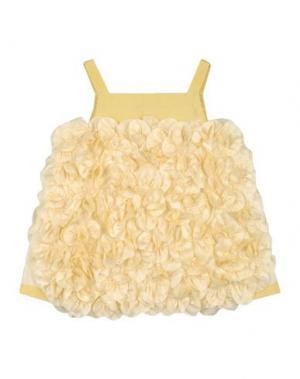 Платье MIMISOL. Цвет: светло-желтый