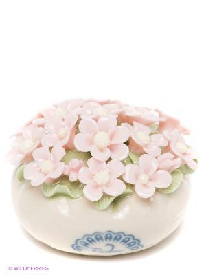 Композиция Корзинка с цветами Pavone. Цвет: бежевый, бледно-розовый