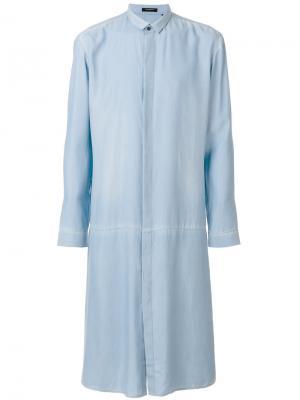 Удлиненная рубашка в стиле фрака Unconditional. Цвет: синий