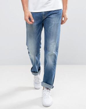 Pepe Jeans Прямые выбеленные джинсы на молнии Kingston. Цвет: синий
