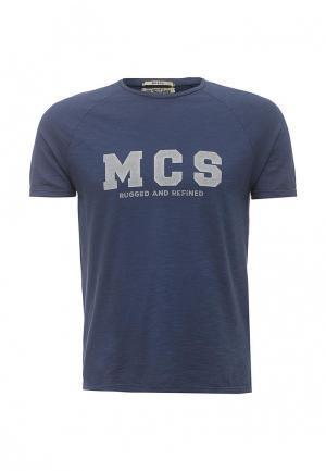 Футболка MCS. Цвет: синий