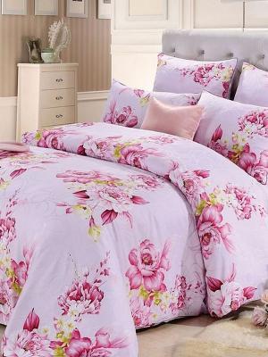 Комплект постельного белья, Розы Ангелика, 1.5 спальный KAZANOV.A.. Цвет: розовый