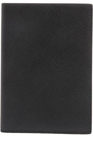 Кожаная обложка для паспорта Smythson. Цвет: черный