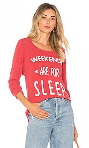 Свитшот weekend sleep Chaser. Цвет: красный