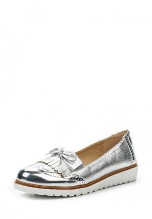 Лоферы WS Shoes. Цвет: серебряный
