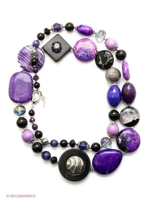 Колье Роман с камнем. Цвет: фиолетовый
