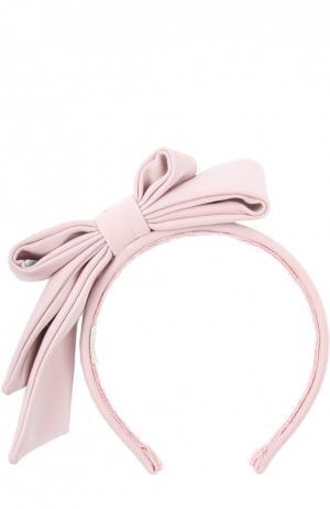 Ободок для волос с бантом Monnalisa. Цвет: розовый