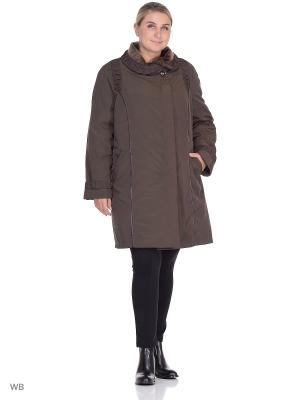 Куртка Кассандра VIKO. Цвет: темно-коричневый