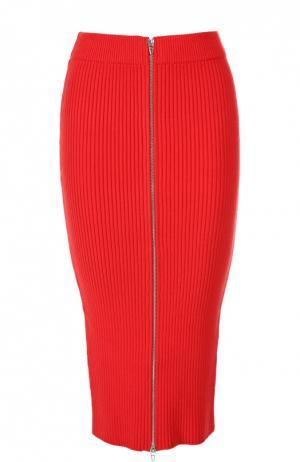 Вязаная юбка T by Alexander Wang. Цвет: красный