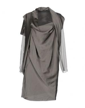 Короткое платье KVORVM GAETANONAVARRA. Цвет: серый