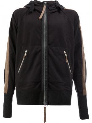 Куртка с капюшоном Ziggy Chen. Цвет: чёрный