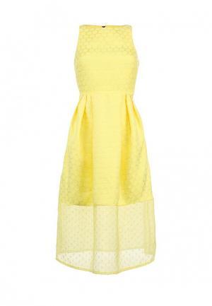 Платье LOST INK. Цвет: желтый