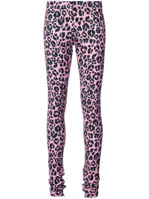 Леггинсы с леопардовым принтом Barbara Bologna. Цвет: розовый и фиолетовый