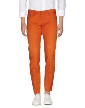 Джинсовые брюки (+) PEOPLE. Цвет: оранжевый