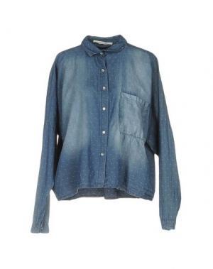Джинсовая рубашка GIORGIA & JOHNS. Цвет: синий