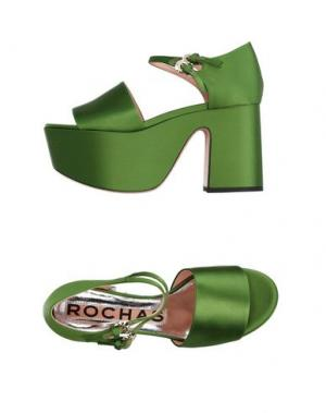 Сандалии ROCHAS. Цвет: зеленый