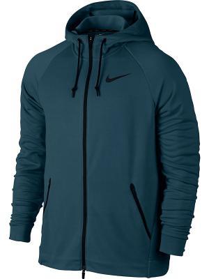 Толстовка M NK DRY HOODIE FZ HYPER FLC Nike. Цвет: синий