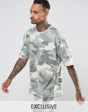 Other UK Свободная футболка. Цвет: синий