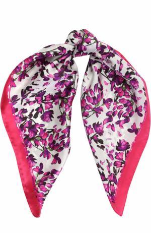 Шелковый платок с принтом Escada. Цвет: розовый