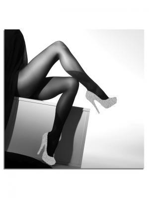 Картина Серебристые туфли Styler. Цвет: черный, белый, серебристый