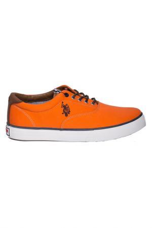 Сникерсы U.S. Polo Assn.. Цвет: оранжевый