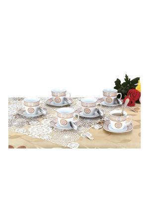 Чайный набор фарфор/нерж. 18 предметов Zillinger. Цвет: белый, золотистый