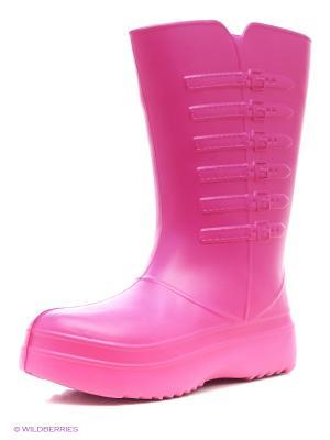 Резиновые сапоги КОЛЕСНИК. Цвет: розовый