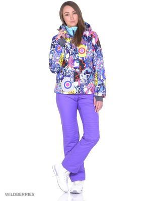 Куртка High Experience. Цвет: синий, розовый, желтый