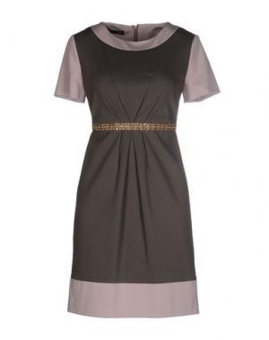 Короткое платье NVL. Цвет: серый