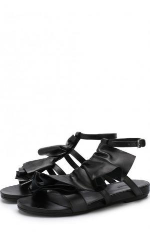 Кожаные сандалии с декоративной отделкой Vic Matie. Цвет: черный