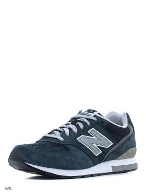 Кроссовки NEW BALANCE 996 REVLITE. Цвет: темно-синий