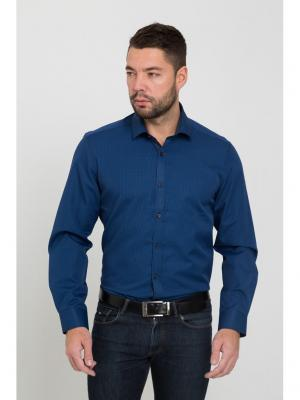 Рубашка John Jeniford. Цвет: темно-синий