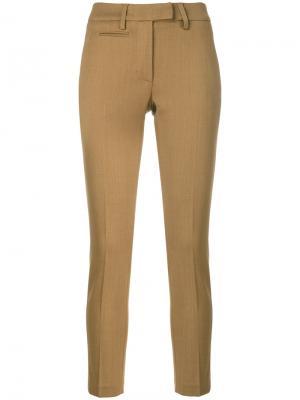 Укороченные брюки скинни Dondup. Цвет: коричневый