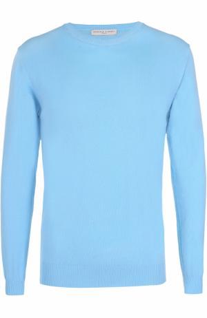 Хлопковый джемпер тонкой вязки Daniele Fiesoli. Цвет: голубой