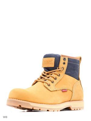 Ботинки Levi's®. Цвет: желтый