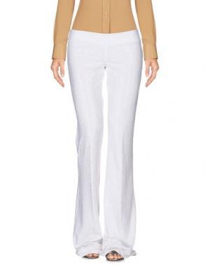 Повседневные брюки FISICO. Цвет: белый