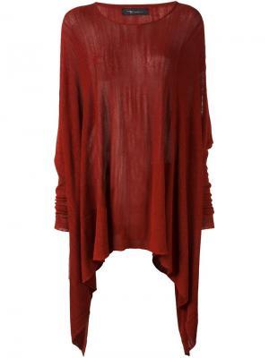 Асимметричный джемпер с вырезными деталями на плечах Area Di Barbara Bologna. Цвет: красный