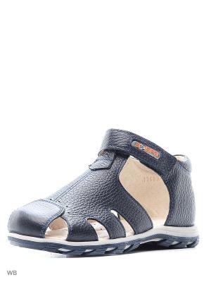 Туфли открытые Зебра. Цвет: синий