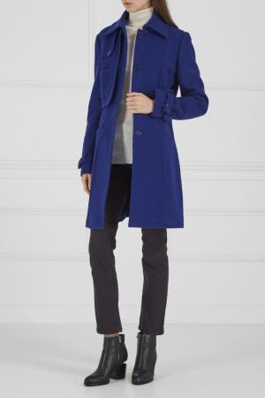 Синее пальто Daniele Alessandrini. Цвет: синий