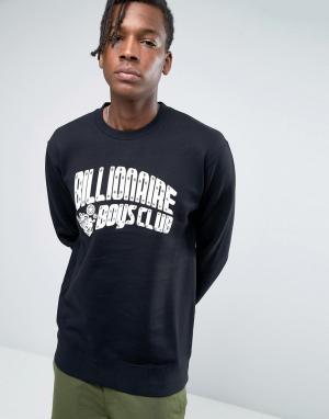 Billionaire Boys Club Свитшот с принтом Mechanics и логотипом. Цвет: черный