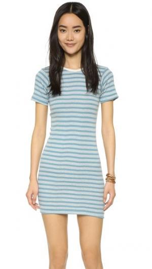 Мини-платье с округлой горловиной Edith A. Miller. Цвет: синий/натуральный в спортивную полоску