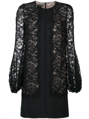 Кружевное платье Giambattista Valli. Цвет: чёрный